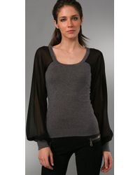 Reformation - Gray Cale Sweater - Lyst