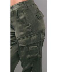 Rich & Skinny | Green Cool Cargo Silk Pants | Lyst