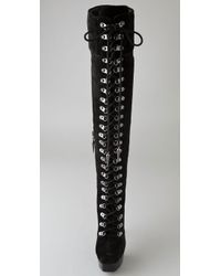Rock & Republic - Black Blaine Suede Over The Knee Boots - Lyst