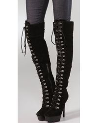 Rock & Republic | Black Blaine Suede Over The Knee Boots | Lyst