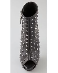 Rock & Republic - Black Gabriel Studded Platform Booties - Lyst