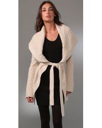 Temperley London - Brown Honeycomb Cardigan - Lyst