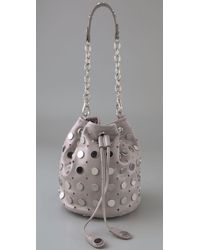 Temperley London | Gray Aurora Studded Leather Pouch | Lyst