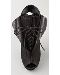 Thakoon - Gray Giuseppe Zanotti For Ruffle Suede Booties - Lyst