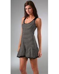 Thakoon | Black Addition Striped Tank Dress | Lyst