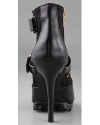 Tory Burch - Black Open Toe High Heel Booties - Lyst
