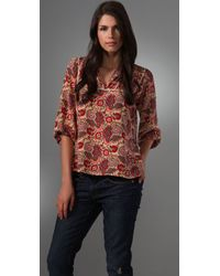 Tucker | Red Yoke Blouse | Lyst