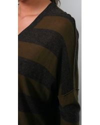 Vince - Green Inside Out Striped Sweater - Lyst