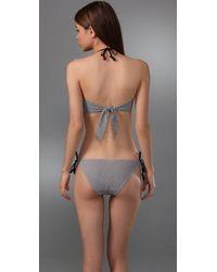 3.1 Phillip Lim - Natural Gathered Halter Bandeau Bikini Top - Lyst