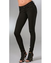 7 For All Mankind | The Gwenevere Black Super Skinny Corduroy Pants | Lyst
