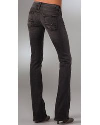 7 For All Mankind - Gray Rocker Boot Cut Jeans - Lyst