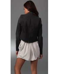 7 For All Mankind - Gray Rumble Jacket - Lyst