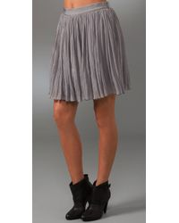 Adam Lippes | Gray Broomstick Skirt with Grosgrain Waistband | Lyst