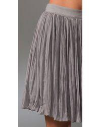 Adam Lippes - Gray Broomstick Skirt with Grosgrain Waistband - Lyst