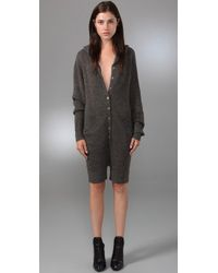 Alexander Wang | Gray Hooded Romper | Lyst