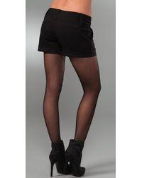 Alice + Olivia - Black Cady Cuff Shorts - Lyst