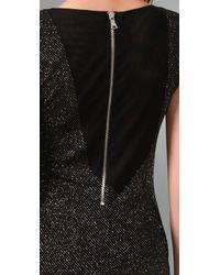 Alice + Olivia - Black Pickford Seamed Glitter Dress - Lyst
