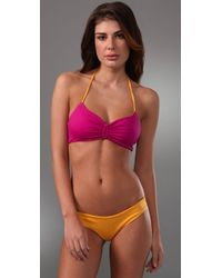 Basta Surf - Yellow Padang Ruched Bikini with Reversible Top - Lyst