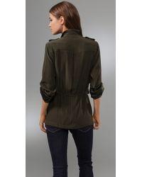 Blu Moon - Green Militant Jacket Blouse - Lyst