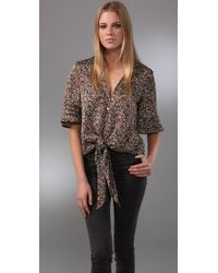 Blu Moon | Brown Mighty Aphrodite Blouse | Lyst