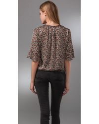 Blu Moon - Brown Mighty Aphrodite Blouse - Lyst