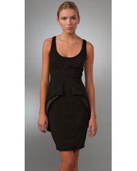 Brian Reyes | Black Fold Flap Dress | Lyst