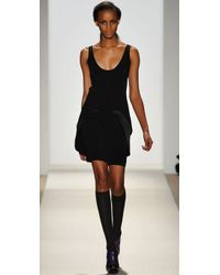 Brian Reyes - Black Fold Flap Dress - Lyst