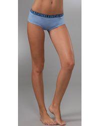 Calvin Klein | Blue X Cotton Cheeky Shorts | Lyst