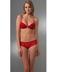 Calvin Klein | Red Envy Lace Hipster Briefs | Lyst