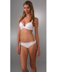 Calvin Klein | White Perfectly Fit Push Up Bra with Lace | Lyst