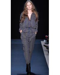 Charlotte Ronson | Gray Overlapped Cuff Pants | Lyst