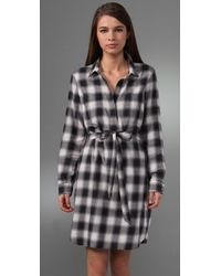 Club Monaco - Blue Plaid Eloise Dress - Lyst