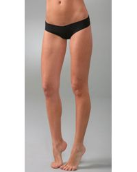 Commando | Black Microfiber Thong | Lyst