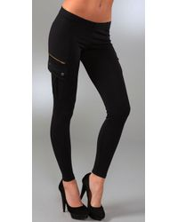 David Lerner | Black Classic Cargo Leggings | Lyst
