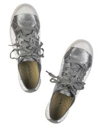 DKNY - Gray Moore Sequined Sneakers - Lyst