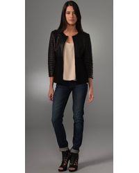 Elie Tahari - Black Tisha Leather Jacket - Lyst