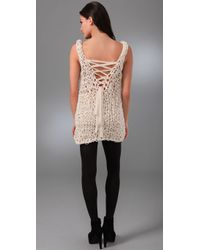 Foley + Corinna | Natural Norma Crochet Tunic | Lyst