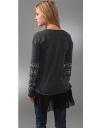 Free People - Gray Claires Bff Tunic - Lyst