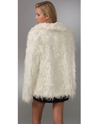 Free People | White Almost Famous Fur Jacket | Lyst