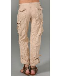 Free People - Natural Cargo Pants - Lyst