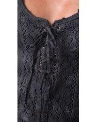 Free People - Gray Sparrow Crochet Top - Lyst