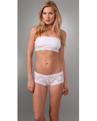 Free People - White Stretch Lace Bandeau - Lyst
