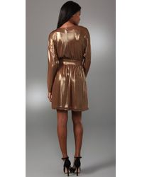 Halston | Metallic Cocktail Dress | Lyst