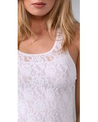 Hanky Panky - White Signature Lace Racer Back Camisole - Lyst