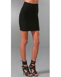 Hervé Léger | Black Signature Essentials Bandage Miniskirt | Lyst