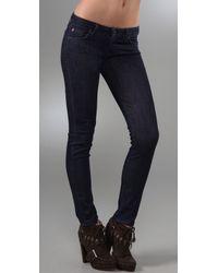 Hudson Jeans   Blue Devonshire Dark Stretch Skinny Jeans   Lyst