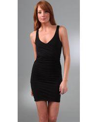 James Perse | Black Crisscross Tank Dress | Lyst