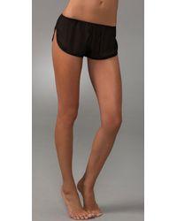 La Fee Verte | Black Silk Chiffon Shorts | Lyst