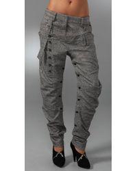 L.A.M.B. | Gray Tweed Harem Pants | Lyst