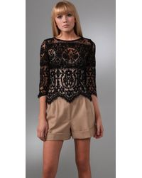 Lover | Black Tilly Lace Top | Lyst